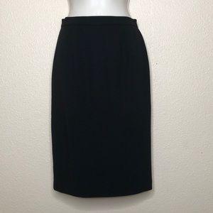 ST. JOHN Collection Black Wool Blend Pencil Skirt